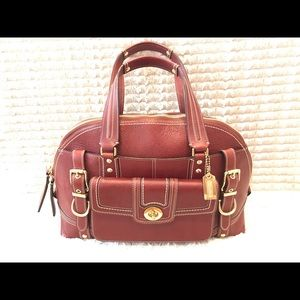 Coach Miranda Bordeaux Leather Satchel